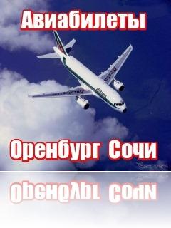 Купить билет на самолет оренбург сочи купить билет поезд москва львов