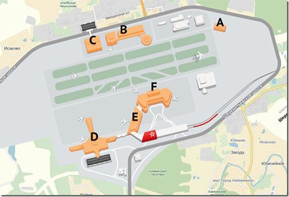 Схема аэропорта Шереметьево (2)