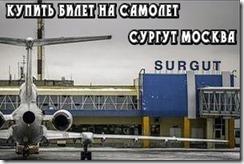 Купить билет на самолет Сургут Москва