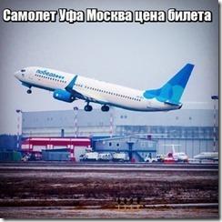 Самолет Уфа Москва цена билета