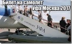 Билет на самолет Уфа Москва 2017
