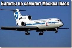 Билеты на самолет Москва Омск