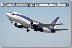 Москва Калининград самолет цена билета