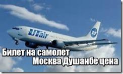 Билет на самолет Москва Душанбе цена