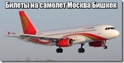 Билеты на самолет Москва Бишкек