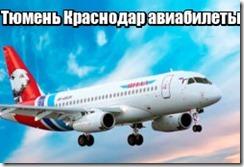Тюмень Краснодар авиабилеты