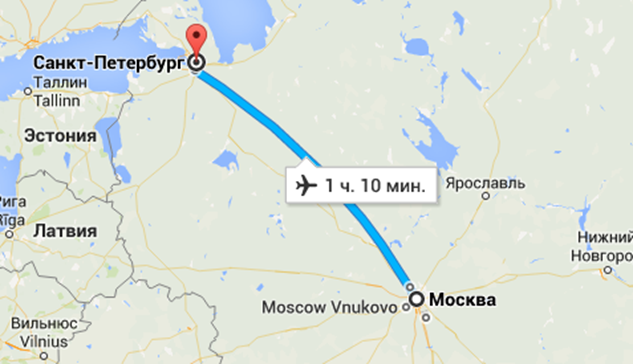 Москва - Санкт Петербург