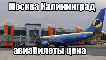 Авиабилеты с москвы до калининграда