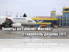 Билеты на самолет Москва Ставрополь дешево 2017