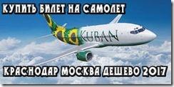 Купить билет на самолет Краснодар Москва дешево 2017