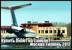 Купить билет на самолет Москва Тюмень 2017