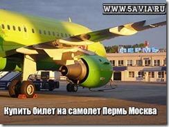 Купить билет на самолет Пермь Москва