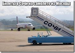 Билеты в Сочи на самолете из Москвы