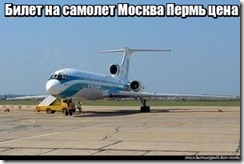 Билет на самолет Москва Пермь цена