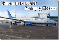 Билеты на самолет Белгород Москва