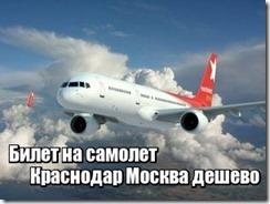 Билет на самолет Краснодар Москва дешево