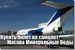 Купить билет на самолет Москва Минеральные Воды