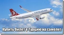 Купить билет в Турцию на самолет
