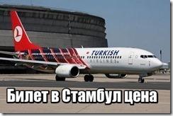 Билет в Стамбул цена