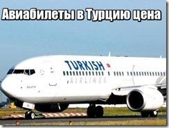 Авиабилеты в Турцию цена