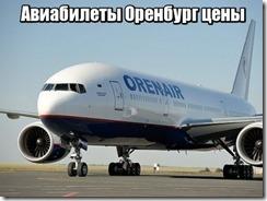Авиабилеты Оренбург цены