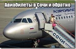 Авиабилеты в Сочи и обратно