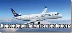 Новосибирск Алматы авиабилеты